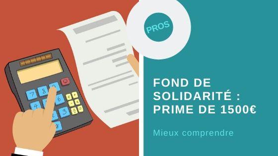 Fond de solidarité prime 1500€