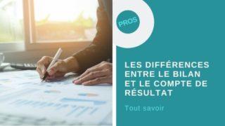 différences entre le bilan et le compte de résultat