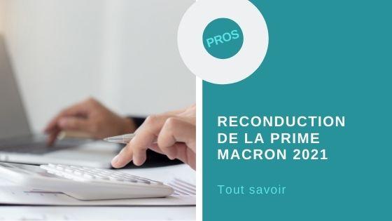 Reconduction prime macron 2021
