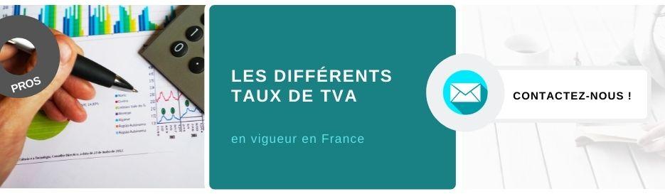 les différents taux de TVA